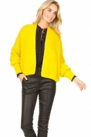 American Vintage |  Knitted cardigan East | yellow  | Picture 5