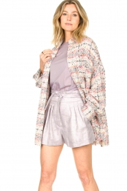 IRO |  Checkered bouclé jacket Mekkie | grey  | Picture 2