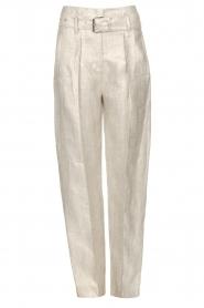 IRO |  Linen paperbag pants Najava | grey  | Picture 1