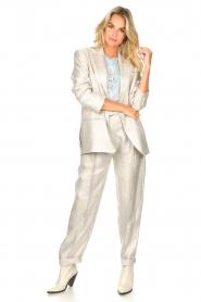 IRO |  Linen paperbag pants Najava | grey  | Picture 2
