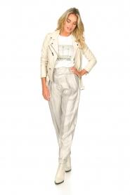 IRO |  Linen paperbag pants Najava | grey  | Picture 3