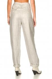 IRO |  Linen paperbag pants Najava | grey  | Picture 8
