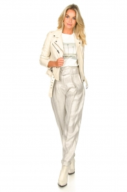 IRO |  Linen paperbag pants Najava | grey  | Picture 5
