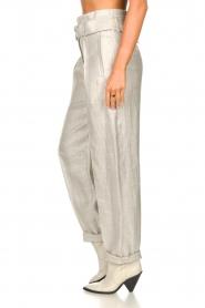 IRO |  Linen paperbag pants Najava | grey  | Picture 7