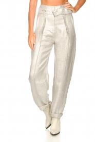 IRO |  Linen paperbag pants Najava | grey  | Picture 6