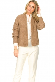 American Vintage    Knitted cardigan East   taupe    Picture 2
