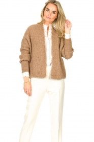 American Vintage    Knitted cardigan East   taupe    Picture 4