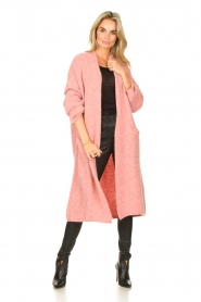 American Vintage |  Knitted oversized cardigan East | pink  | Picture 2