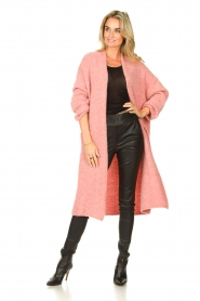 American Vintage |  Knitted oversized cardigan East | pink  | Picture 3