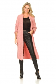 American Vintage |  Knitted oversized cardigan East | pink  | Picture 4