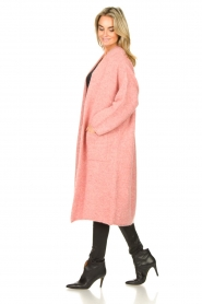 American Vintage |  Knitted oversized cardigan East | pink  | Picture 5