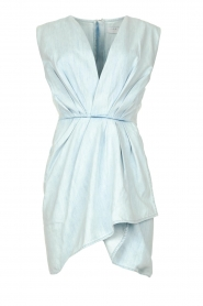 IRO |  Dress with pleates Marg | blue  | Picture 1