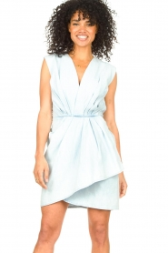 IRO |  Dress with pleates Marg | blue  | Picture 5
