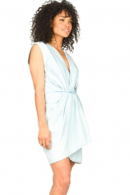 IRO |  Dress with pleates Marg | blue  | Picture 6