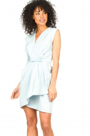 IRO |  Dress with pleates Marg | blue  | Picture 4