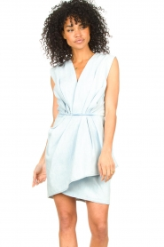 IRO |  Dress with pleates Marg | blue  | Picture 2