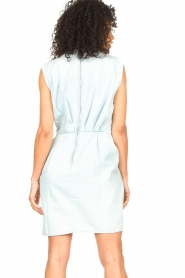 IRO |  Dress with pleates Marg | blue  | Picture 7