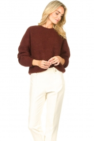 American Vintage    Knitted sweater East   bordeaux    Picture 2