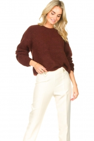 American Vintage    Knitted sweater East   bordeaux    Picture 4