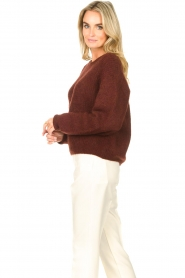 American Vintage    Knitted sweater East   bordeaux    Picture 6