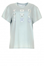 IRO |  Cotton T-shirt with logo Iroyoux | blue  | Picture 1