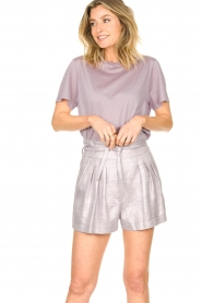 IRO |  Cotton T-shirt Sherie | lilac  | Picture 4