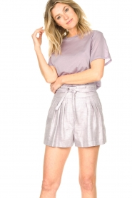 IRO |  Cotton T-shirt Sherie | lilac  | Picture 2