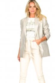 IRO |  Linen blazer Sirma | grey  | Picture 2