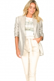 IRO |  Linen blazer Sirma | grey  | Picture 7