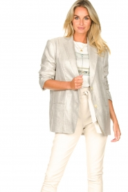 IRO |  Linen blazer Sirma | grey  | Picture 6