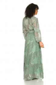 ba&sh |  Maxi dress with lurex Oriane | blue  | Picture 5