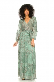 ba&sh |  Maxi dress with lurex Oriane | blue  | Picture 3