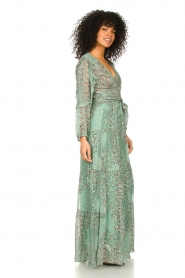 ba&sh |  Maxi dress with lurex Oriane | blue  | Picture 4