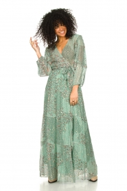 ba&sh |  Maxi dress with lurex Oriane | blue  | Picture 2