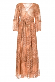 ba&sh |  Maxi dress with lurex Oriane | nude  | Picture 1