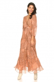 ba&sh |  Maxi dress with lurex Oriane | nude  | Picture 3