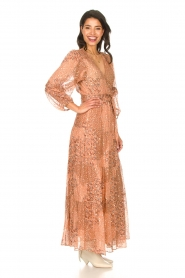 ba&sh |  Maxi dress with lurex Oriane | nude  | Picture 7
