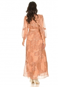 ba&sh |  Maxi dress with lurex Oriane | nude  | Picture 6