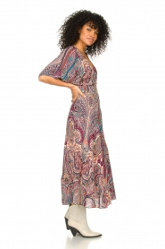 ba&sh |  Maxi dress with paisley print Bee | pink  | Picture 4