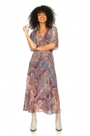 ba&sh |  Maxi dress with paisley print Bee | pink  | Picture 3
