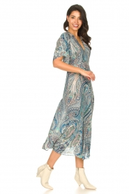 ba&sh |  Maxi dress with paisley print Bee | blue  | Picture 3