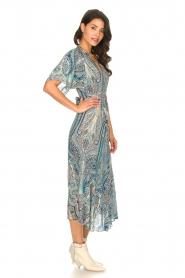 ba&sh | Maxi-jurk met paisleyprint Bee | blauw   | Afbeelding 4