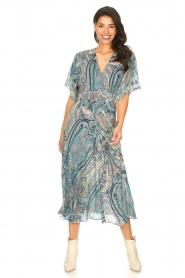 ba&sh | Maxi-jurk met paisleyprint Bee | blauw   | Afbeelding 2