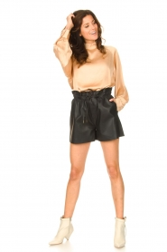American Vintage |  Top with balloon sleeves Widland | nude  | Picture 3