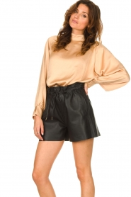 American Vintage |  Top with balloon sleeves Widland | nude  | Picture 4