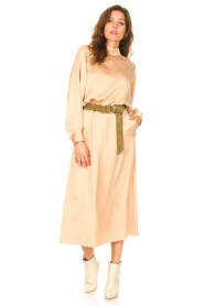 American Vintage |  Acetate midi skirt with pockets Widland | nude  | Picture 3