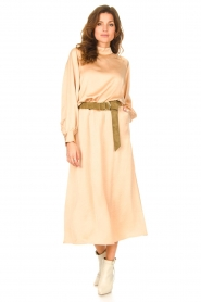 American Vintage |  Acetate midi skirt with pockets Widland | nude  | Picture 4