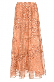 ba&sh |  Maxi skirt with lurex Obbie | salmon pink  | Picture 1