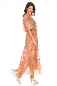 ba&sh :  Maxi skirt with lurex Obbie | salmon pink - img3