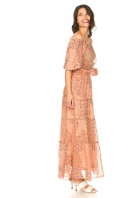 ba&sh :  Maxi skirt with lurex Obbie | salmon pink - img4